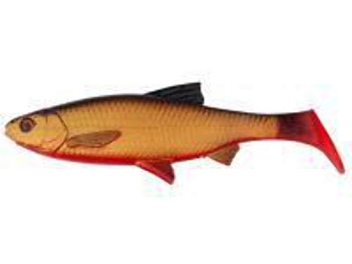 Savage Gear 3D FIUME SCARAFAGGIO  2 gomma pesci ROSSO OCCHI PER ROTATORIO da pesca gomma gomma ALOSA SWIMBAIT esche per luccio, luccio esca  softbait - SANGUE pancia, 18cm - 70g