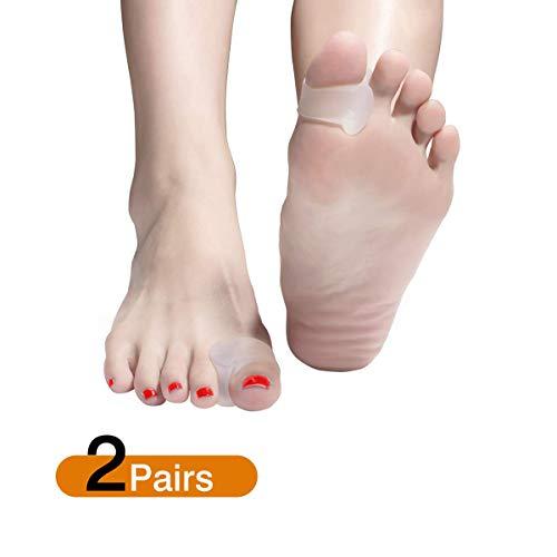 Zehenspreizer, Zehenteiler hallux für Uberlappende Zehen, Hammerzehen Korrektur, Weich und bequem für Damen & Herren (2 Paar) (Transparent)
