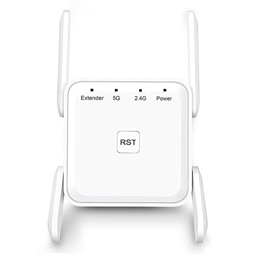 WiFi Range Extender, 1200Mbps WiFi Booster Repeater 2.4 & 5GHz Dual Band WPS Wireless Signal Strong Penetrability, Wide Range of Signals(2000FT), Enjoy Gaming Movies
