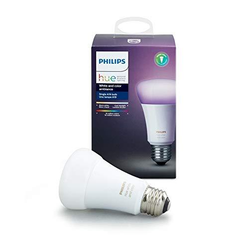 Philips HUE - Lámpara LED Individual 10W,  A19 E26, Blanco y multicolor