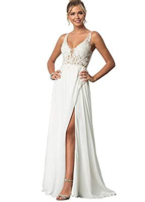 FEATURES: Elegant A Line lace appliques chiffon formal dress , illusion lace bodice floor length gown, A Line silhouette, v-neck , with a bra inside, fully lined, boned. Elegant, lovely and unique design will make you more attractive and charming -- ...