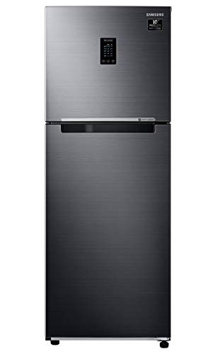 Samsung 314 L 2 Star Inverter Frost-Free Double Door Refrigerator (RT34A4622BX/HL, Luxe Black, Curd...