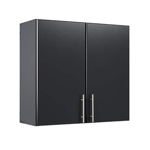 Prepac Elite 32' Tall Wall Cabinet, Black