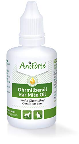 AniForte Aceite para el oído Perros, Gatos, Roedores 50ml - Cuidado...