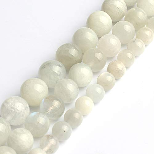 Love Beads 6mm Natural Moonstone Round Stone Beads for...