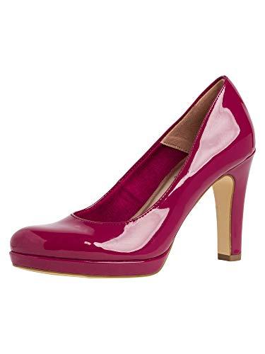 Tamaris 1-1-22426-24, Zapatos de Tacón Mujer, Rojo (Cranberry Pat 632), 39 EU