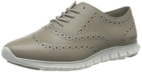 Cole Haan Zerogrand Wing Ox Closed Hole, Zapatos de Cordones Oxford Mujer, Grey (Paloma Grey Leather/Optic White Paloma Grey Leather/Optic White), 42 EU