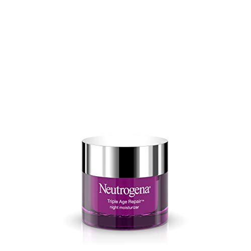 Neutrogena Triple Age Repair Anti-Aging Night Cream with Vitamin C; Fights Wrinkles & Even Tone, Dark Spot Remover & Firming Anti-Wrinkle Face & Neck Cream; Glycerin & Shea Butter, 1.7 oz