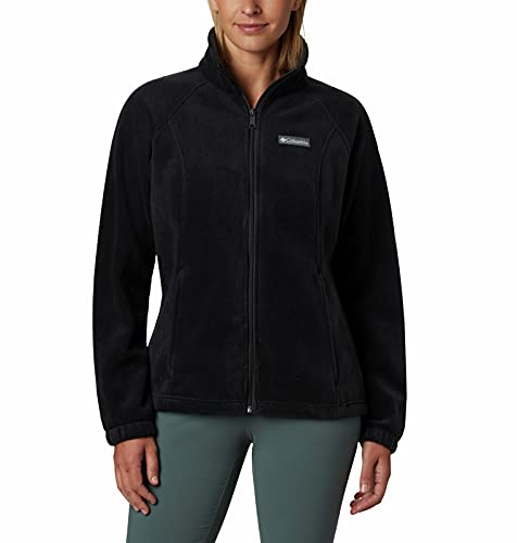 Columbia womens Benton Springs Full Zip Fleece Jacket, Black, 2X US