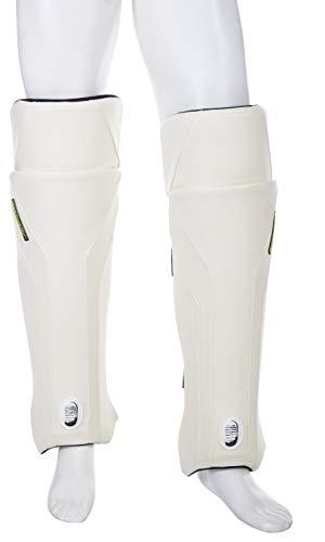 moonwalkr LGWHLA01 Exos Cricket Leg Guard, Large (White)