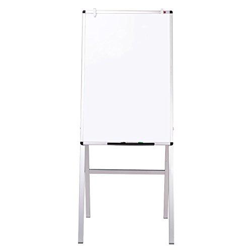 VIZ-PRO Lavagna Magnetica, Lavagna a fogli mobili, cornice in alluminio, 60 x 90 cm