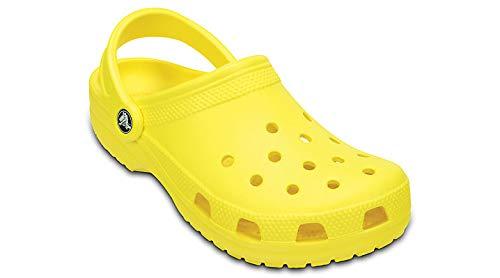 Crocs Women's Classic Clog|Comfortable Slip On Casual Water Shoe, Lemon, 8 M US Women / 6 M US Men