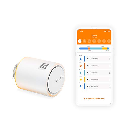 Netatmo Smartes Heizkörperthermostat Wlan, Zusatzmodul für das Smarte Heizkörperthermostate Starterpaket und für das Smarte Heizkörperthermostate Starterpaket, NAV-DE