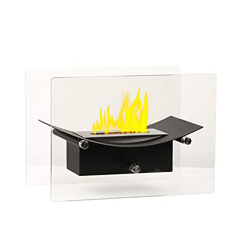Venus Table Styled bioethanol Fireplace with a 0.5L Single Layer 430 Stainless Steel Burner and a Control Tool.