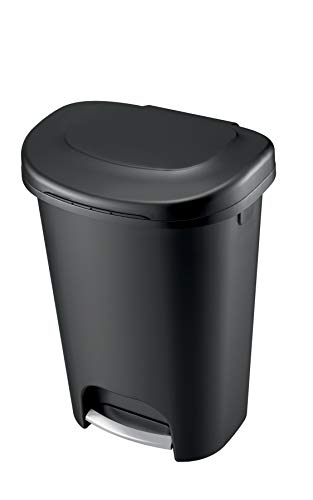 Product Image 3: Rubbermaid Step-On Lid Trash Can for Home, Kitchen, and Bathroom Garbage, 13 Gallon, Black