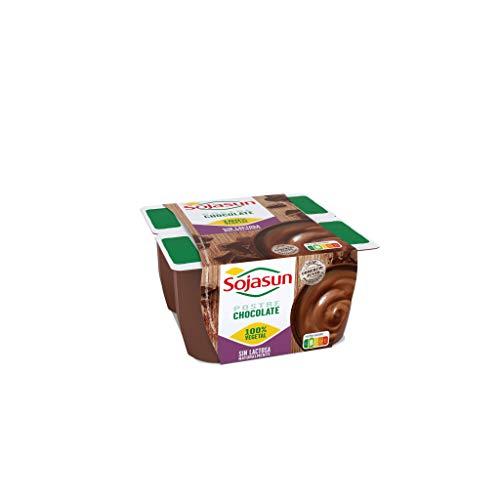 Sojasun Postres de Soja, 100% Vegetal Sabor Chocolate, 4 Unidades