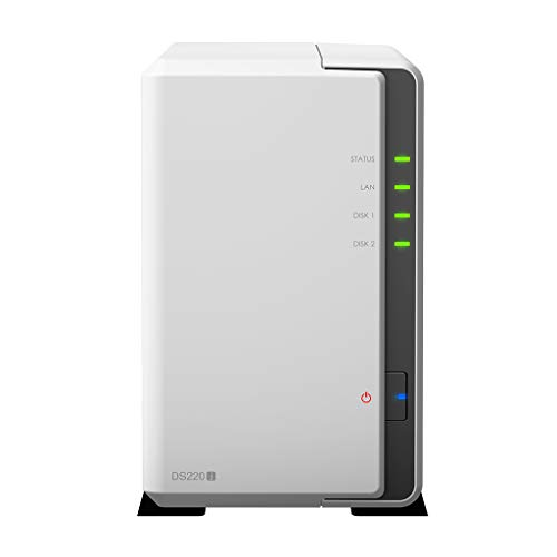 Synology DiskStation DS220j Network Attached Storage Drive (White)