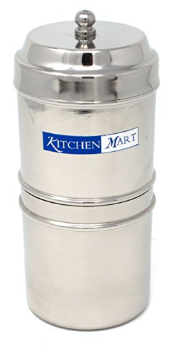 Kitchen Mart Stainless Steel South Indian Filter Coffee Drip Maker (2 Cup)