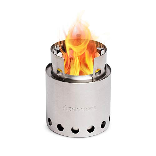 Solo Stove Lite - Portable Camping Hiking and Survival Stove   Powerful Efficient Wood Burning and Low Smoke   Gassification Rocket Stove for Quick Boil   Compact 4.2 Inches and Lightweight 9 Ounces