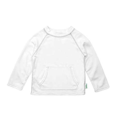 i Play. Baby Breatheasy Sun Protection Shirt, White, 6-12 Months