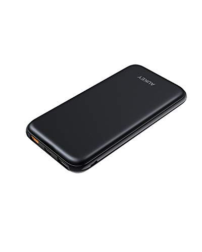 AUKEY Power Delivery Power Bank, 10000mAh PD Power Bank, 18W USB-C Portable Charger with Quick Charge 3.0 Compatible iPhone Xs/XS Max, Pixel, Samsung, Nintendo Switch etc.