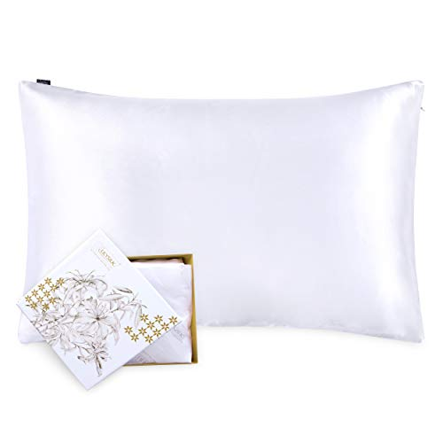 LilySilk Silk Pillowcase for Hair and Skin-100% Mulberry...