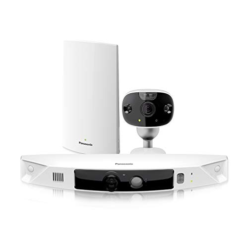 Panasonic HomeHawk Outdoor Wireless Smart Home Security Camera, Wide Angle View, Color Night Vision, 2-Way Talk, Works with Alexa & Google Assistant, 2 Camera Kit (KX-HN7002W)