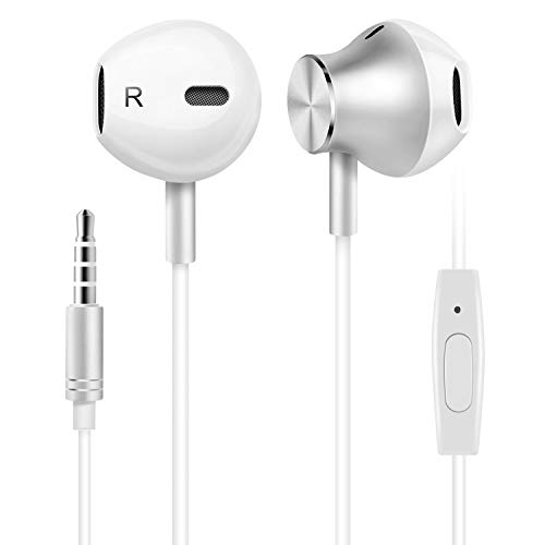 Earbuds, Amoner Wired Headphones, Noise Cancelling Sports in Ear Headphones with Mic for Phone 6/6s Plus/5s/SE, Galaxy, Android Smartphones, Tablets