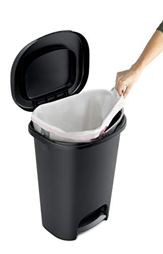 Product Image 5: Rubbermaid Step-On Lid Trash Can for Home, Kitchen, and Bathroom Garbage, 13 Gallon, Black