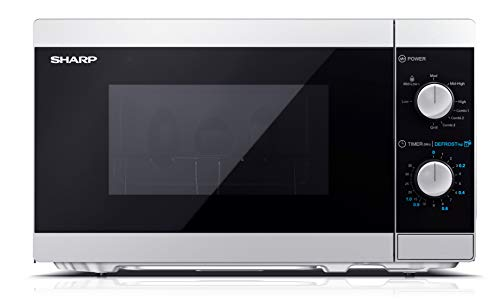 Sharp YC-MG01ES - Forno a microonde 20 litri con funzione grill, 800W potenza microonde e 1000W...