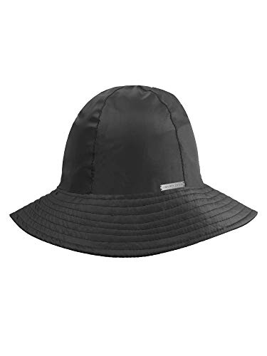 Black Reversible Rain Or Sun Style Bucket Hat