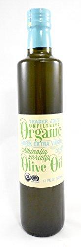 Trader Joe's Unfiltered Organic Greek Extra Virgin Olive Oil Athinolia Variety 17 Oz.