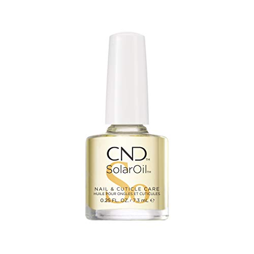 CND SolarOil Nail & Cuticle Care, 0.25 fl oz, for Dry, Damaged Cuticles, Infused with Jojoba Oil & Vitamin E for Healthier, Stronger Nails