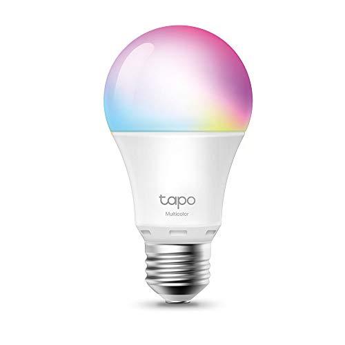 【NUEVO】TP-Link - Bombilla LED Inteligente, Bombilla WiFi, Multicolor, Regulable, E27, 8.7W 806lm, Compatible Alexa, Echo y Google Home, [Clase de eficiencia energética A+]...