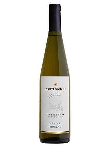 MLLER THURGAU Trentino DOC - Conti d'Arco - Vino bianco fermo 2020 - Bottiglia 750 ml
