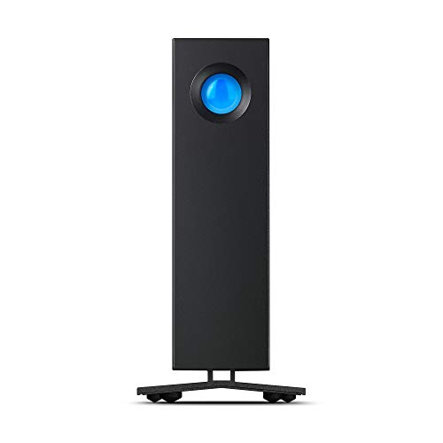LaCie d2 Professional da 10 TB, Unit Classe Enterprise, USB-C, USB 3.0, per Mac e PC Desktop,...