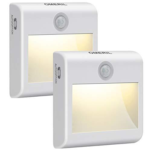 Luce Notte LED Batteria, OMERIL Luce Notturna con Sensore di Movimento, 3 Modalit Illuminazione,...
