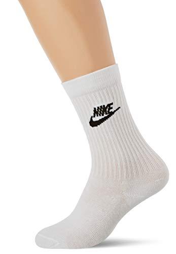 Nike U Nk NSW Evry Essential Crew, Calzini Unisex Adulto, White/Black, XL
