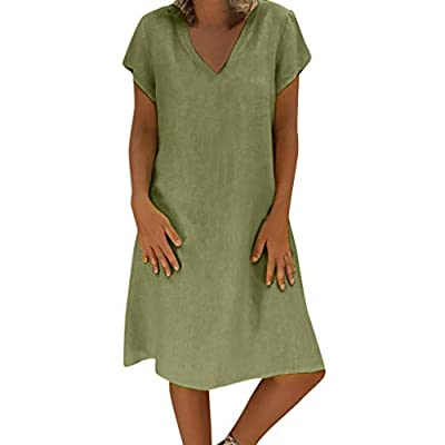 """❤ iQKA ❤--iQKA is committed to providing customers with the best service. There are many choices for women tops, dress, men tops and home decoration in iQKA. Please search """"iQKA"""" to find your favorite. ❤Features: Knee Length, Loose, solid pattern typ..."""