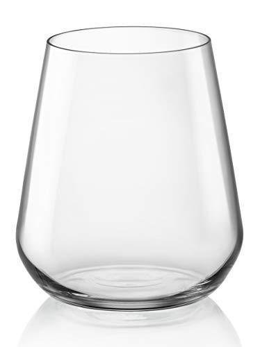 Bormioli Rocco 1334544 Bicchieri in Vetro Inalto, 44 cl