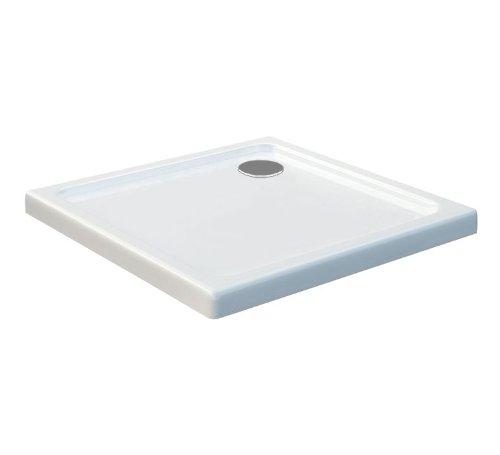 80x80 Duschtasse Duschwanne Extra Flach 50 mm Rechteck Weiß