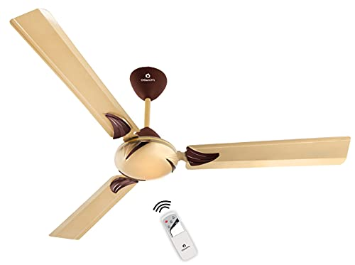 OGSMITH Royal 1200mm With Remote High Speed 400 RPM 3 Blade Ceiling Fan (Golden, Pack of 1)