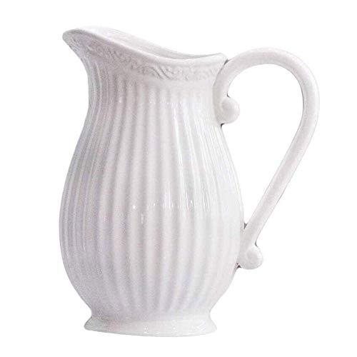 Lamyanran Vaso Decorativi Vaso in Ceramica Bricco del Latte Vaso Soggiorno Secco Sistemazione Fiore Fiore della Decorazione della casa dell'ornamento tavolino della Decorazione