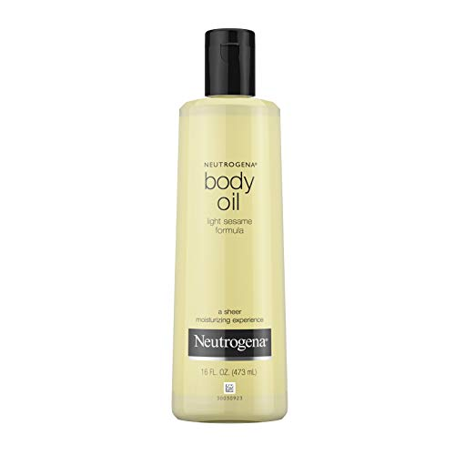 Neutrogena Lightweight Body Oil for Dry Skin, Sheer Body Moisturizer in Light Sesame Formula, 16 fl. oz
