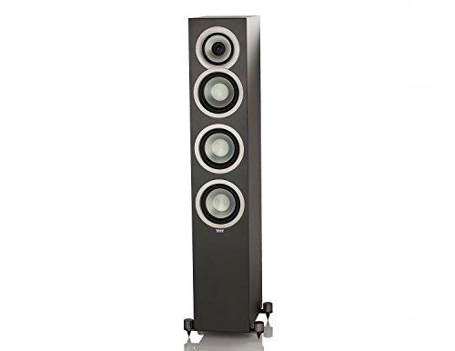 Elac Uni-Fi FS U5 Slim Schwarz - Lautsprecher (3-Wege, 1.0 Kanäle, Verkabelt, 42-25000 Hz, 4 Ohm, Schwarz)