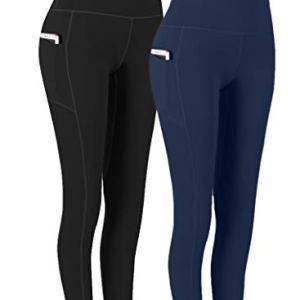 Fengbay 2 Pack High Waist Yoga Pants, Pocket Yoga Pants Tummy Control Workout Running 4 Way Stretch Yoga Leggings 28