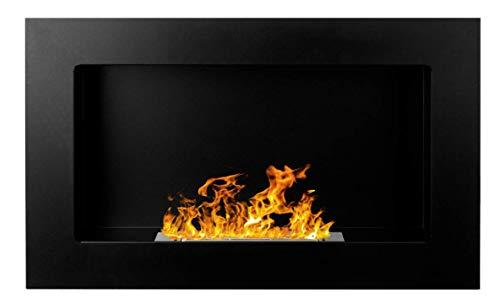 Bio Ethanol Fire BioFire Fireplace Modern 650 x 400 Black ...