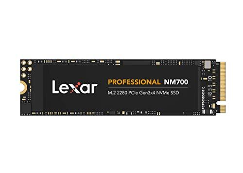 Lexar Professional NM700 M.2 2280 PCIe NVMe 256GB SSD, Juegos, hasta...