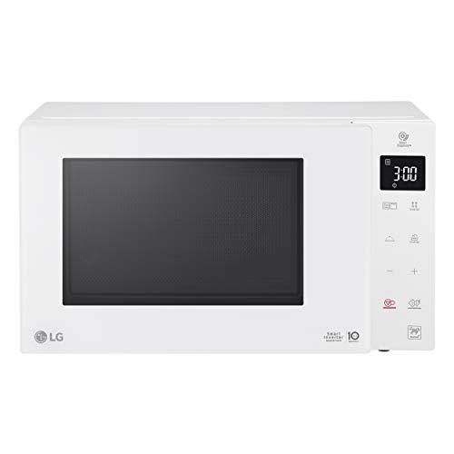 LG MH6535GDH Forno Microonde Smart Inverter con Grill al Quarzo, 25 Litri, 1000 W, Programmi Automatici, Livelli di Potenza Regolabili, Cottura a Vapore - Bianco