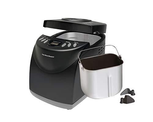 Hamilton Beach (29882C) HomeBaker 2 Lb. Bread Maker Machine with 12 Program Cycles, Non-Stick Dishwasher-Safe Pan and 2 Kneading Paddles, Black